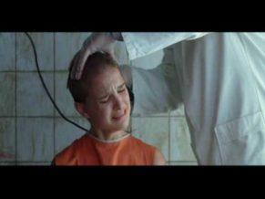 Natalie Portman Actress shaved head scene from v for vendetta