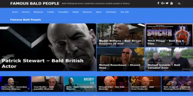 famous bald people website screenshot