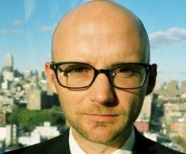 Moby musician that wears glasses
