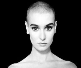 Sinead O'Connor with short hair crew cut style