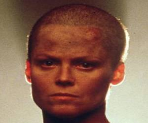 Sigourney Weaver - Shaved Head for a Movie Role
