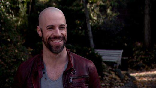 Chris Daughtry receding hairline and short beard smiling