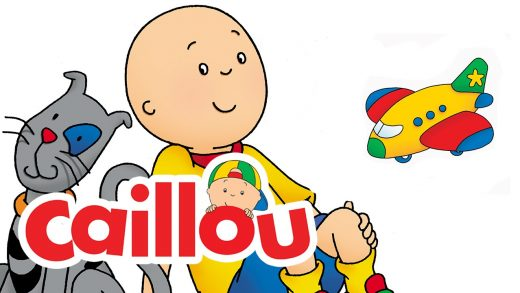 Caillou with cat and airplane