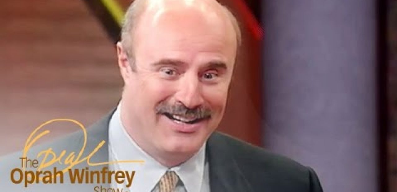 Dr Phil American talk show host with male pattern baldness appearance on the oprah winfrey show