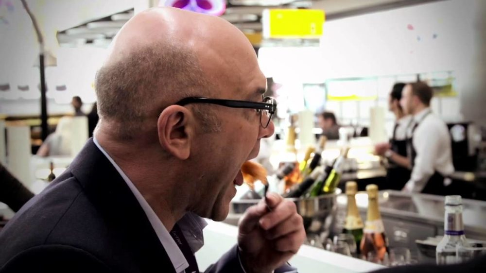 Gregg Wallace tasting food on master chef UK