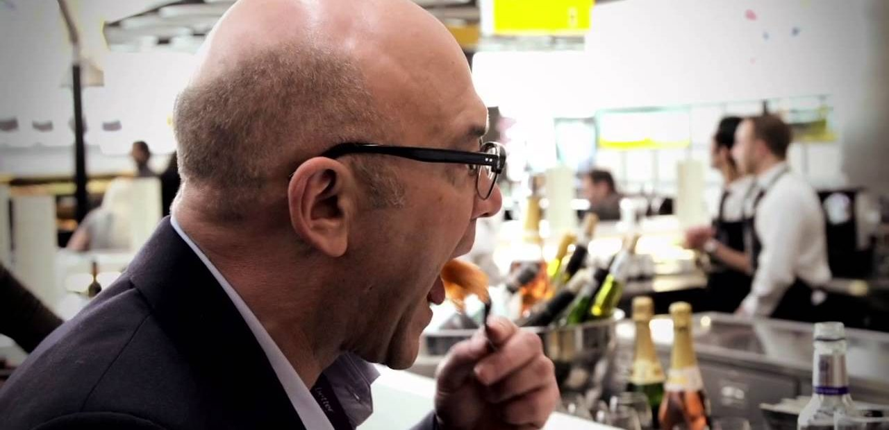 Gregg Wallace bald judge on master chef UK tasting food