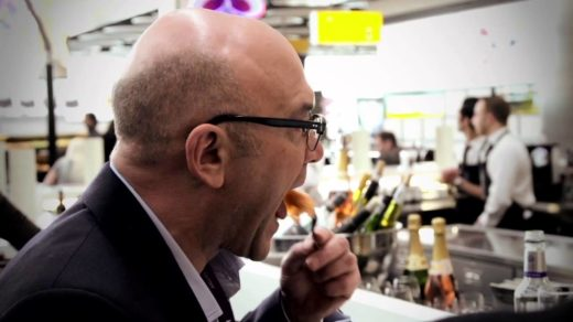 Gregg Wallace tasting food on master chef UK