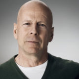 Bruce Willis with noticeable scar on left side of forehead