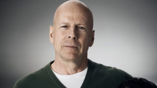 Bruce Willis hollywood actor and celebrity with noticeable scar on left side of forehead