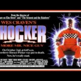 Mitch Pileggi actor in movie Shocker movie poster being electrocuted in electric chair