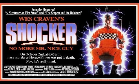 Mitch Pileggi Shocker movie poster being electrocuted in electric chair