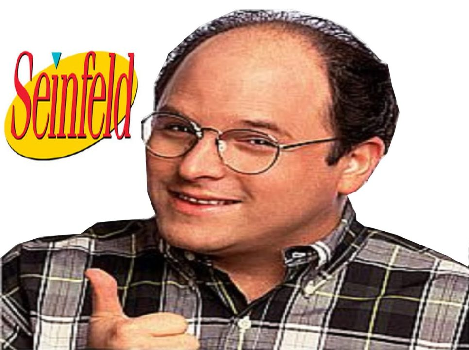 Jason Alexander bald guy wearing glasses from seinfeld with thumbs up