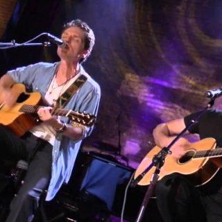 Matt Scannell American Musician Vertical Horizon playing guitar with Richard Marx