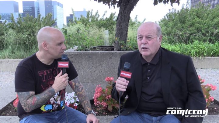 Michael Ironside Canadian Actor during interview holding microphone