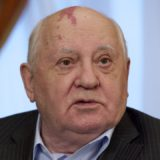 Mikhail Gorbachev soviet leader with birth mark on his head