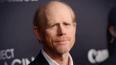 Ron Howard with receding hair and scruff beard