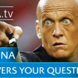 Pierluigi Collina pointing while holding whistle