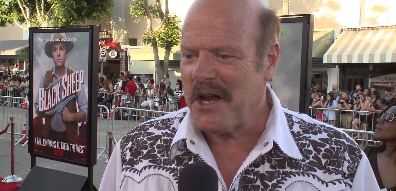Rex Linn red carpet interview wearing cowboy shirt