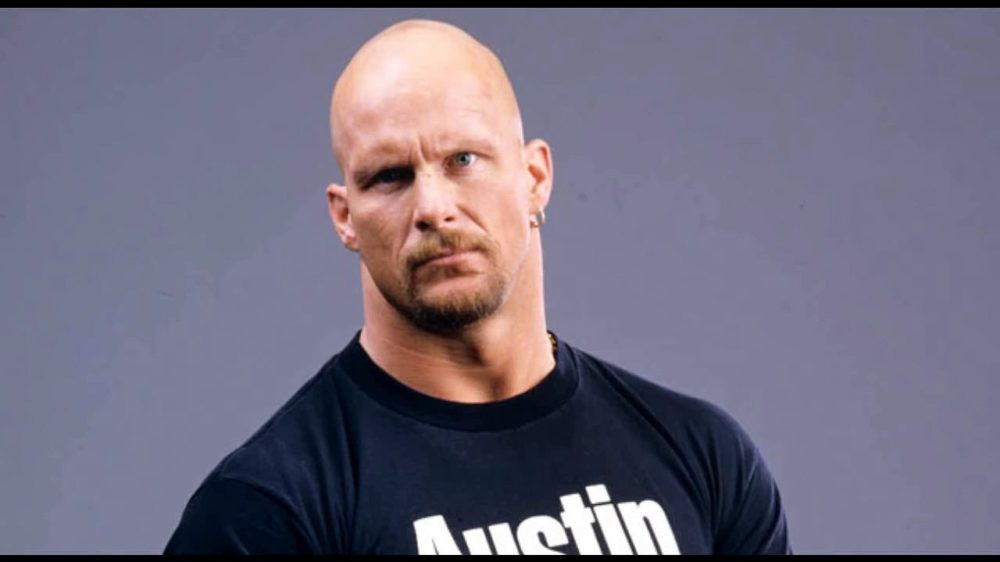 Steve Austin with goatee beard and earring