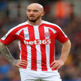 Stephen Ireland wearing football jersey