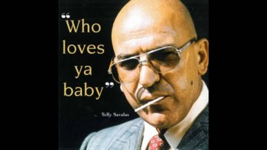 Telly Savalas Kojak Sucking Lolipop wearing glasses