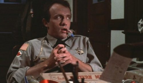 Jonathan Banks hairline in Gremlins Movie