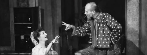 Yul Brynner The King and I Broadway musical with short but not bald head